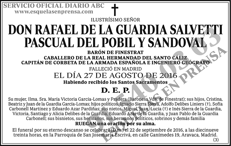 Rafael de la Guardia Salvetti Pascual del Pobil y Sandoval